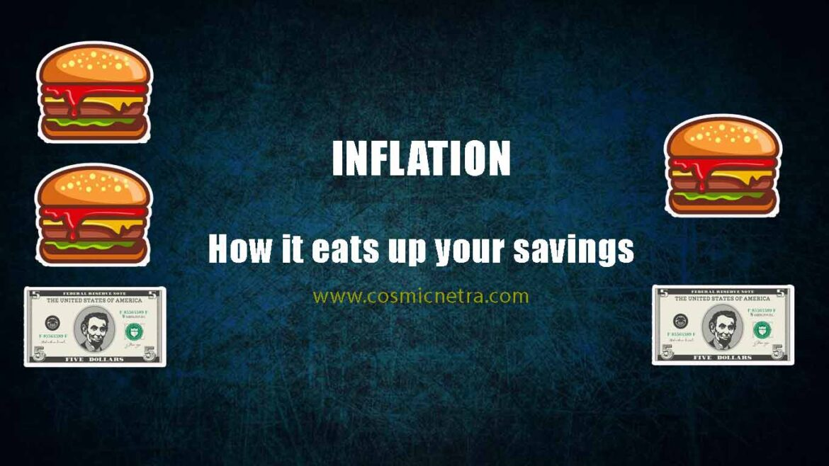 How Inflation occurs and how it eats up savings account